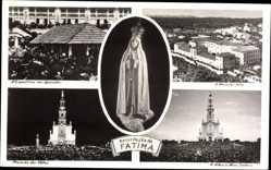 Ak Fátima Portugal, A Capelinha das Aporicoes, Madonnenstatue, Hospital