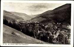 Postcard Calmbach Bad Wildbad im Kreis Calw, Ortschaft mit Waldlandschaft