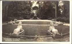 Postcard Schwetzingen im Rhein Neckar Kreis, Apollotempel, Schlossgarten, Statuen