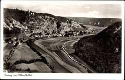 Postcard Essing im Altmühltal, Blick auf den Ort in der Landschaft, Burg, Felder