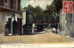 Ak Sidi bel Abbès Algerien, Quartier des Spahis, Militärkaserne
