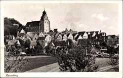 Postcard Herrenberg Kreis Böblingen, Blick auf die Stadt mit Kirche
