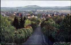 Postcard Bayreuth in Oberfranken, Blick vom Festspielhügel auf die Stadt