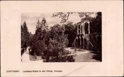 Foto Ak Stuttgart in Baden Württemberg, Lusthausruine in den königlichen Anlagen