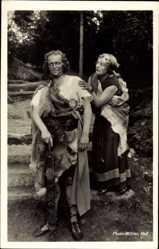 Postcard Wunsiedel im Tal der Röslau Oberfranken, Naturbühne, zwei Schauspieler