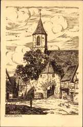 Künstler Ak Beutelsbach Weinstadt, Ansicht der Kirche