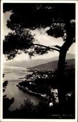 Postcard Opatija Abbazia Kroatien, Panoramaansicht der Ortschaft, Meer