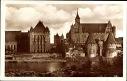 Ak Malbork Marienburg Westpreußen, Hochschloss, Deutscher Ritterorden, Haupthaus