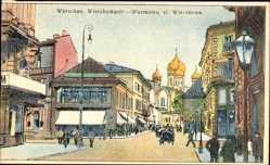 Künstler Ak Warszawa Warschau Polen, Wierzbowa Ulica, Kirche
