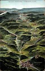 Landkarten Künstler Ak Felle, Wutzlhofen Regensburg an der Donau, Falkenstein
