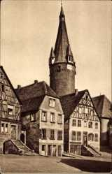 Postcard Ottweiler im Kreis Neunkirchen Saarland, Blick auf den alten Turm