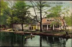Postcard Cranford New Jersey USA, Cranford Canoe Club, Kanu, Gewässer
