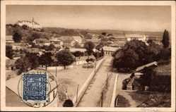 Postcard Levice Slowakei, Totalansicht der Stadt, Straße, Häuser