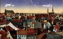 Postcard Ingolstadt an der Donau Oberbayern, Blick über die Dächer der Stadt
