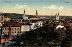 Postcard Miskolcz Ungarn, Latkep, Blick auf den Ort, Kirchen, Häuser