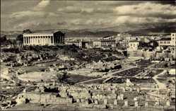 Postcard Athen Griechenland, Hephaistos Tempel, Westseite der Agora, Stoa, Ruinen