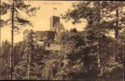 Postcard Bad Teinach Zavelstein im Nordschwarzwald, Die Ruine Zavelstein