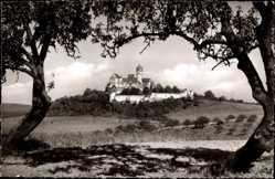 Postcard Ronneburg im Kreis Greiz Thüringen, Blick aus der Ferne auf die Burg