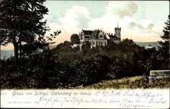Postcard Coburg in Oberfranken, Blick aus der Ferne auf Schloss Callenberg