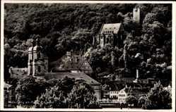 Postcard Miltenberg in Unterfranken Bayern, Ortschaft mit Kirche und Schloss