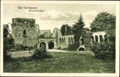 Postcard Gelnhausen im Main Kinzig Kreis Hessen, Blick auf die Barbarossaburg