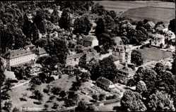 Postcard Bad Salzhausen Nidda in der hessischen Wetterau, Ort, Fliegeraufnahme