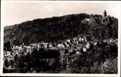 Postcard Falkenstein Königstein im Taunus Hessen, Stadtpanorama mit Burg