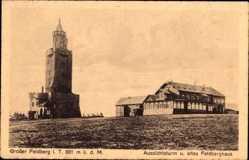Postcard Schmitten im Hochtaunuskreis Hessen, Großer Feldberg, Turm und Feldberghaus
