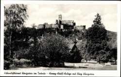 Postcard Königstein im Taunus Hessen, Herzog Adolf Anlage mit Burgruinen