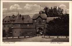 Postcard Friedberg im Wetteraukreis Hessen, Blick auf das Vordere Burgtor