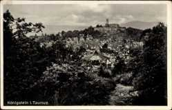 Postcard Königstein im Taunus Hessen, Panorama der Stadt, Burg, Pavillon