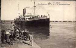 Postcard Oran Algerien, Paquebot Mustapha II, Compagnie de Navigation Mixte