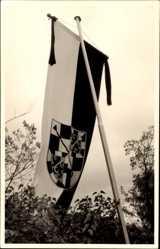 Foto Ak Bayreuth in Oberfranken, Aufgehängte Fahne