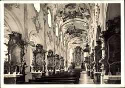 Postcard Mönchsdeggingen Schwaben, Inneres der Mariannhiller Klosterkirche