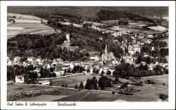 Postcard Bad Soden Salmünster im Kinzigtal Hessen, Totalansicht der Ortschaft