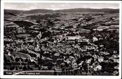 Postcard Kusel am Kuselbach Rheinland Pfalz, Fliegeraufnahme von der Stadt