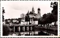 Postcard Stetten am kalten Markt im Kreis Sigmaringen, Schloss Sigamringen mit Teich