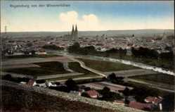 Postcard Regensburg an der Donau Oberpfalz, Gesamtansicht von Winzererhöhen