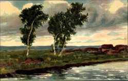 Künstler Ak Wencke, S., Worpswerde in Niedersachsen, Landschaft