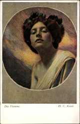 Künstler Ak Kosel. H. C., Die Flamme, Portrait einer Frau, BKWI 181 1