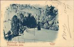 Postcard Postojna Adelsberg Slowenien, Adelsberger Grotte, Belvédère, Razgled, Jama