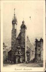 Künstler Ak Kraków Krakau Polen, Kosciol Marjacki, Marienkirche