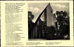 Postcard Heiligenrode Stuhr in Niedersachsen, Klosterhof, Theo Müller, Gedicht