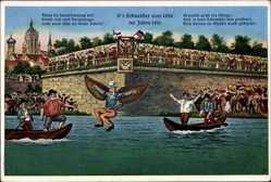 Künstler Ak Ulm an der Donau, D'r Schneider von Ulm im Jahre 1811