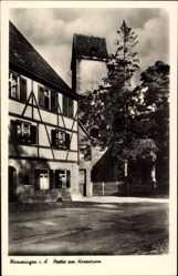 Postcard Memmingen an der Iller Schwaben, Partie am Hexenturm