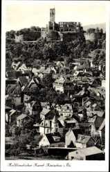 Postcard Königstein im Taunus Hessen, Kurort, Totalansicht, Burgruine