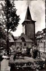 Postcard Gengenbach an der Kinzig Ortenaukreis, Blick auf den Obertor Turm
