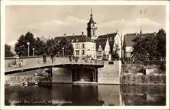 Postcard Stuttgart Bad Cannstadt in Baden Württemberg, Blick auf Wilhelmsbrücke