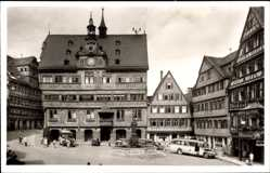 Postcard Tübingen am Neckar Baden Württemberg, Marktplatz, Reisebus, Rathaus