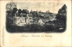 Postcard Tübingen am Neckar Baden Württemberg, Uhlandhaus und Oesterberg